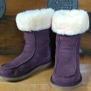 UGG Purple Shearling Sheepskin Boots